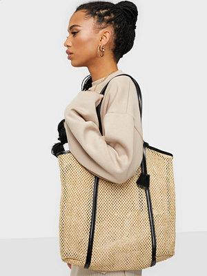 Glamorous beige väska Woven Tote Bag