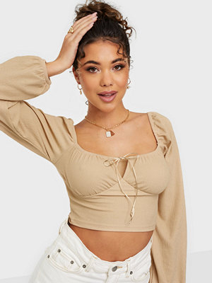 NLY Trend Tie Cropped LS Top