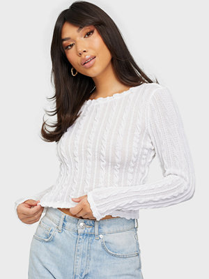 Toppar - Only ONLKELLY L/S CROPPED TOP JRS