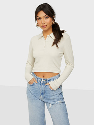 Toppar - Only ONLWENDY L/S POLO RIB TOP JRS