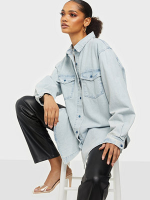 Missguided Boyfriend Fit Oversized Denim Shirt