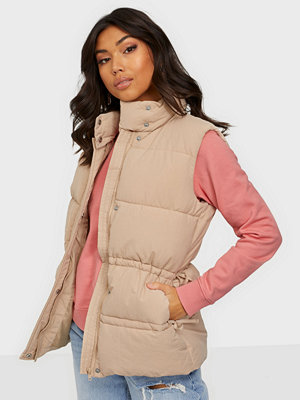 Missguided Gathered Detail Paded Gilet
