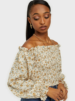 Missguided Floral Frill Detail Crop Top