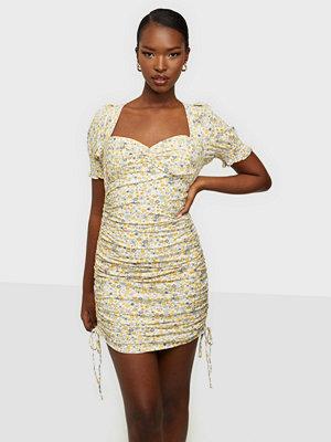 Bardot Rouched Mini Dress