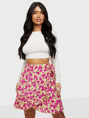 Only ONLCARLY-PIO WRAP SHORT AOP SKIRT T