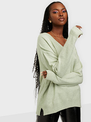 Vila VIRIL OVERSIZE V-NECK KNIT TOP - NO