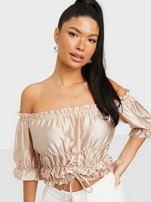 NLY Trend Ruched Satin Top