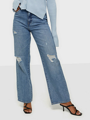 Jeans - Only ONLMOLLY HW WIDE VIN DNM JEANS BJ