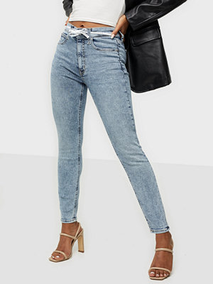 Jeans - Calvin Klein Jeans HIGH RISE SKINNY ANKLE