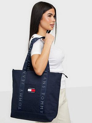 Tommy Jeans marinblå väska TJW HERITAGE TOTE CANVAS