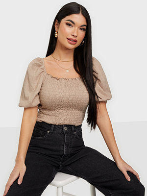 Only ONLNALENA 2/4 PUFF SMOCK TOP JRS