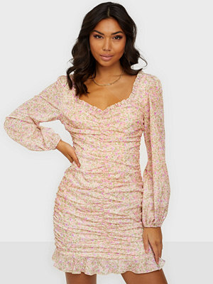Kiss The Sky Rouche Frill Dress