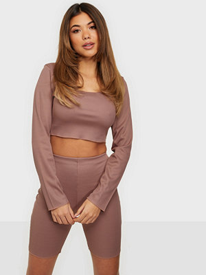 Jumpsuits & playsuits - Missguided Rib Neck Crop Top & Cycling Shorts