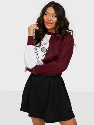 Missguided Cropped Sweatshirt Colour Block