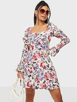 Missguided Shirred Sleeve Milkmaid Dress
