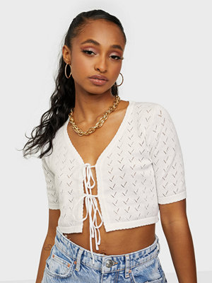 Glamorous Knitted Tie Crop Top