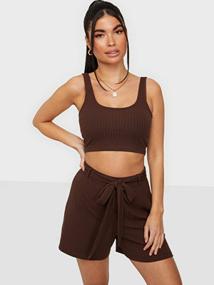 Jumpsuits & playsuits - NLY Trend Rib Tie Shorts Set