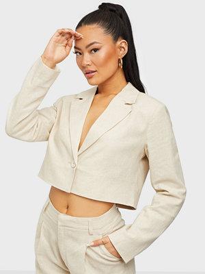 Gina Tricot Kylie cropped linen blazer