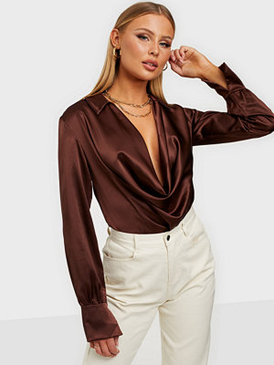 NLY One Cowl Neck Satin Top