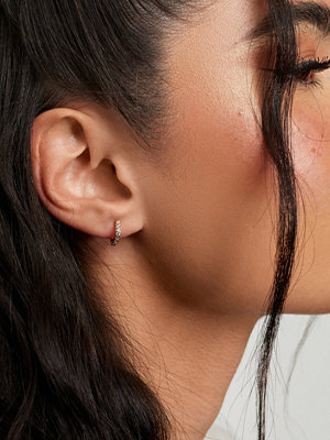 Muli Collection smycke Zirconia Mini huggie hoop - Pair