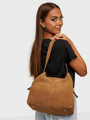 NuNoo omönstrad väska Chiara new suede