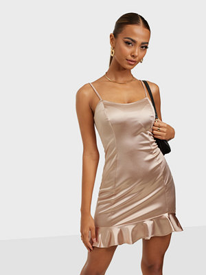 NLY One Satin Frill Hem Dress