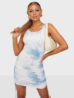 Kiss The Sky Clouds Tie Up Rib Tank Dress