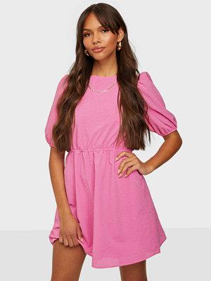 Glamorous Puff Sleeve Textured Mini Dress