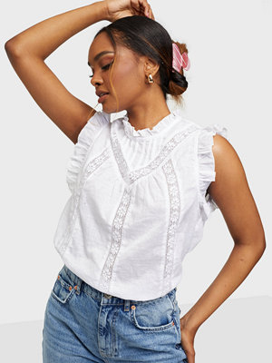 co'couture Lola Linen Frill Top