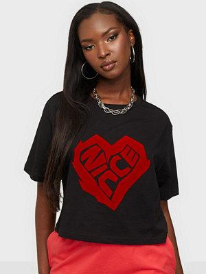 Nicce HEART SS CROP T-SHIRT