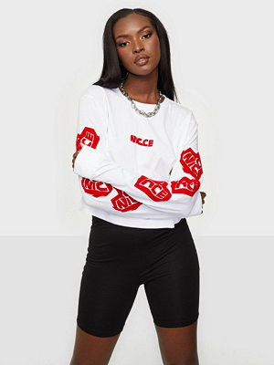 Nicce HEART LS CROPPED T-SHIRT