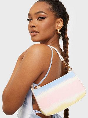 Missguided vit väska Pastel Tie Dye 90S Shoulder