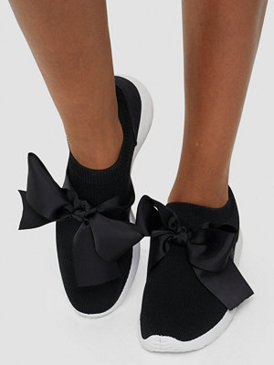 Sneakers & streetskor - NLY Shoes Low Sock Bow Runner