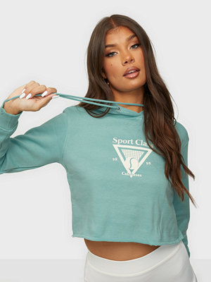 Missguided Sports Club Cropped Hoodie