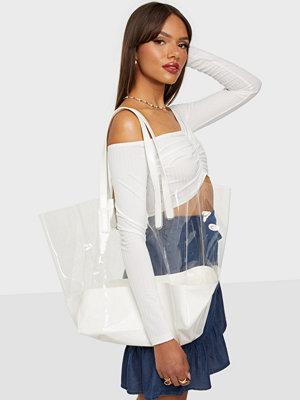 NLY Accessories vit väska Plastic Fantastic Shopper