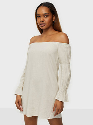 NLY Trend Off Shoulder Linen Dress