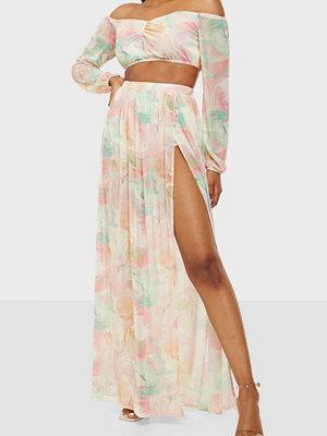 NLY One Mesh Slit Print Skirt