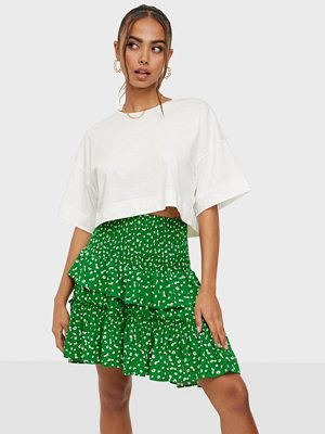 co'couture Green Flower Smock Skirt