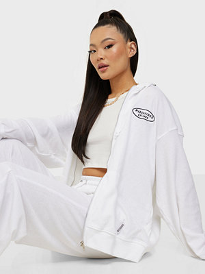 Missguided Waffle Zip Cropped Hoody