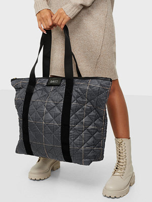 Day Et mörkgrå rutig väska Day Gweneth RE-Q Checky Bag