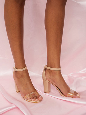 NLY Shoes Clear Toe Strap Heel