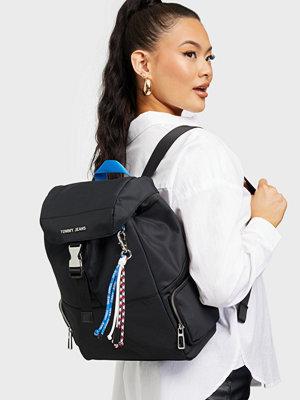 Tommy Jeans svart väska TJW Fashion Nylon Backpack