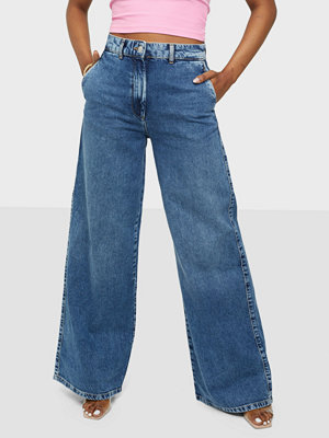 Jeans - Selected Femme SLFJENNI HW DARK BLUE DENIM JEANS U