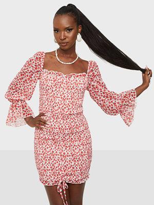 Parisian Ditsy Shirred Mini Dress