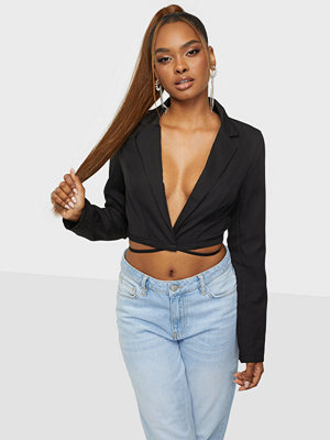 Public Desire AMBER GILL CROSS FRONT CROPPED BLAZER CO-ORD