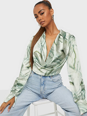 NLY One Print Satin Top