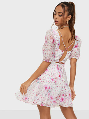 Forever New Square Neck Tie Back Detail Mini Dress