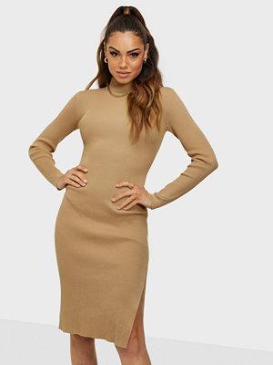 Missguided High Neck Side Split Midi Dress