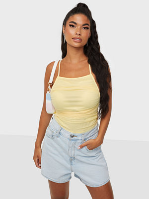 Missguided Mesh Ruched Strappy Body