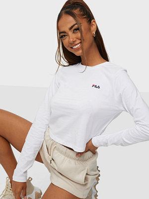 Toppar - Fila WOMEN ECE cropped longsleeve shirt